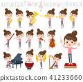 Bun hair mom Pants style_classic music 41233660