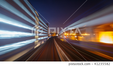 Motion blur railway in London, England, UK 41235582