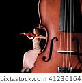 Tiny female violinist 41236164
