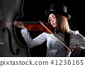 Beautiful young violinist 41236165