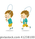A boy who jumps rope 41238100