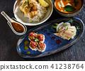 lunch in japanese restaurant 41238764
