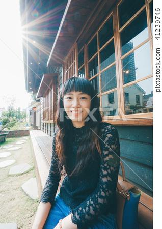 亞洲台灣台南藍晒圖女性女人女生人像肖像 41239746