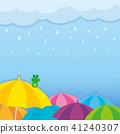 雨天的插图 41240307