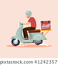 Delivery Boy Ride Scooter 41242357