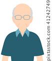 남성 상반신 얼굴없는 할아버지 유형 41242749
