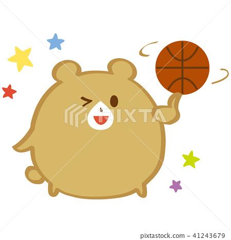 拿一個籃球茶熊 41243679