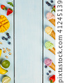 Variety of ice cream 41245139