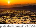 พระอาทิตย์ตก,ผืนนา,ไร่นา 41246556