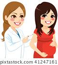 Pregnant Woman Vaccine 41247161