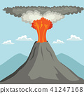 Erupting Volcano 41247168