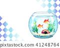 金魚 金魚缸 明信片模板 41248764