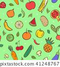 fruits, vegetable, vector 41248767