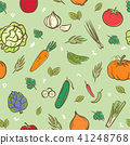 Fruits and vegetables  seamless pattern background 41248768