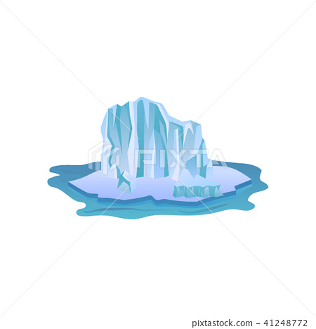 Large blue iceberg with lights and shadows. Big ice mountain floating in pure water. Arctic 41248772