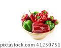빨간색과 녹색 피망 41250751