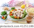 Cold shabu salad summer vegetable tsukemen 41251186