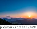 """""""จังหวัดชิสุโอกะ"""" มุมมองตอนเช้าของภูเขาฟูจิ 41251491"""