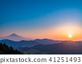 """""""จังหวัดชิสุโอกะ"""" มุมมองตอนเช้าของภูเขาฟูจิ 41251493"""