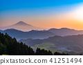 """""""จังหวัดชิสุโอกะ"""" มุมมองตอนเช้าของภูเขาฟูจิ 41251494"""