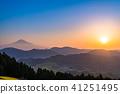 """""""จังหวัดชิสุโอกะ"""" มุมมองตอนเช้าของภูเขาฟูจิ 41251495"""