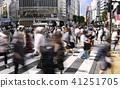 东京的城市景观在涩谷爬行交叉路口等的视图 41251705