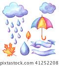 aquarelle, rain, cloud 41252208