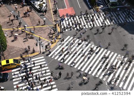 东京的城市景观在涩谷爬行交叉路口等的视图 41252394