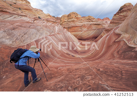 Photographer at the Wave 41252513
