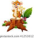 卡通 猎豹 婴儿 41253012