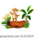 卡通 猎豹 婴儿 41253014