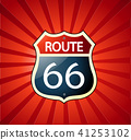 Route 66 sign  41253102
