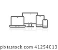 Device illustration vector of responsive design  41254013