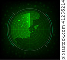 abstract green radar background 41256214