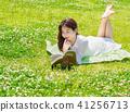 모델,독서,휴식,여유 41256713