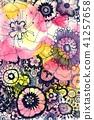꽃 무늬 41257658