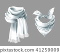 Vector 3d realistic red neck scarf, neckerchief 41259009