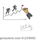 hand of businessman leader drawing a line 41259092