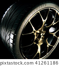 3D Rendering of a sports car alloy wheel 41261186