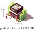 Vector isometric copy and print shop 41261284