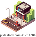 Vector isometric copy and print shop 41261286