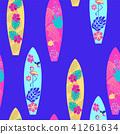 background surfboard seamless pattern. 41261634