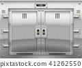 Futuristic metal armoured gate 41262550