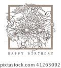 vector, flower, card 41263092