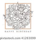 beautiful, vector, card 41263099