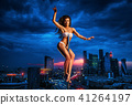 Young pole dancing woman 41264197