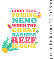 Eco poster for saving Great Barrier Reef 41264366