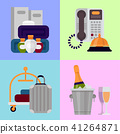 Hotel personal professional service objects executive help hostel tools vector illustration. 41264871