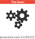 Three gear sign simple icon 41265422