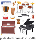 Musical instruments vector music concert with piano or musicians synthesizer and drum kit 41265504
